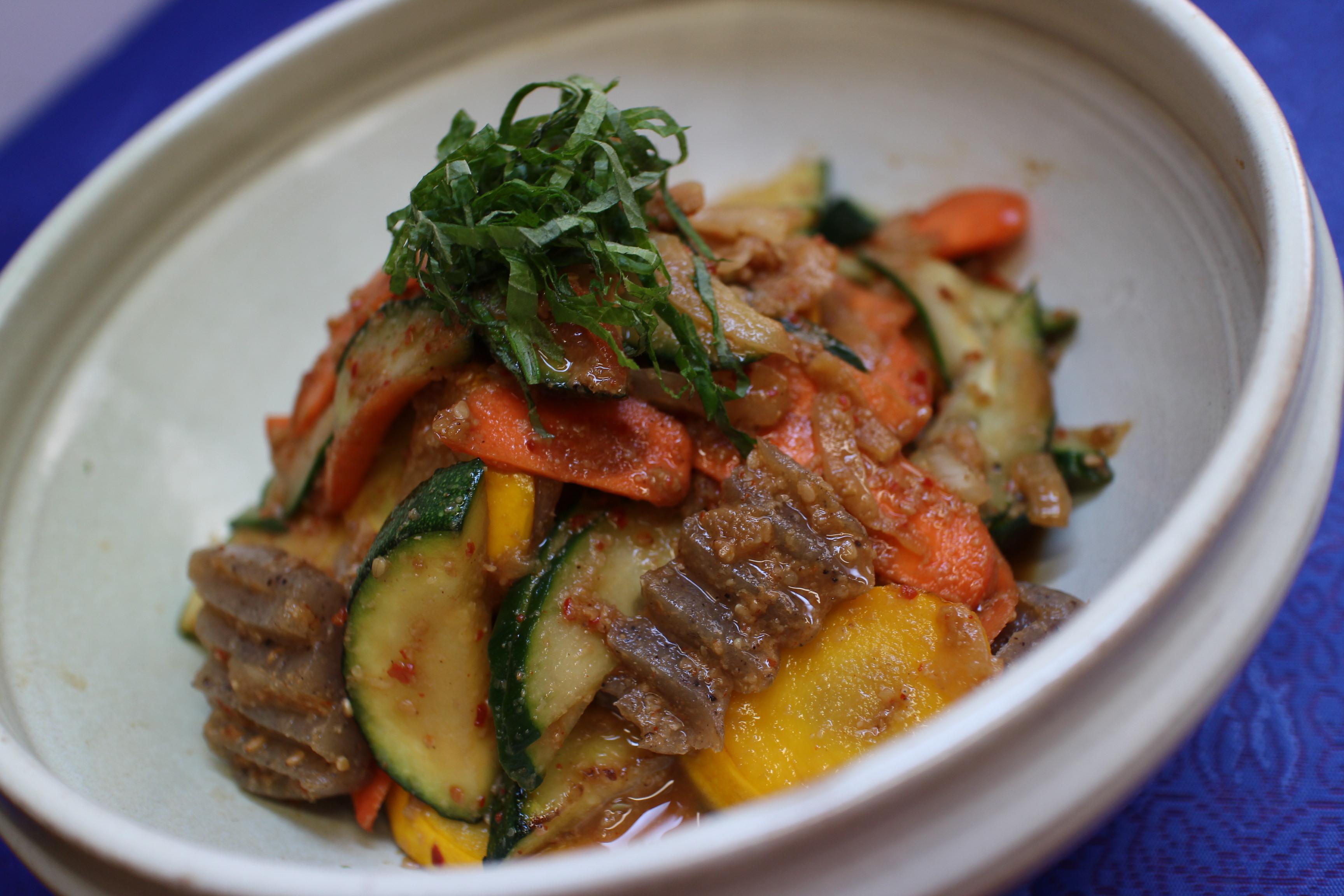 薬膳:夏野菜のナムル